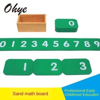 цена Montessori material Mathematics teaching aids kindergarten preschool early education puzzle Montessori children sand math board онлайн в 2017 году