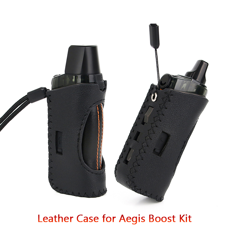 Hand-Made Luxury Leather Soft Case For GeekVape Aegis Boost Kit Electronic Cigarette Accessories