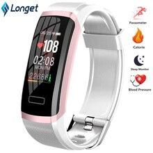 Longet Sport Smart Uhr GT101 Wasserdichte Farbe Bildschirm Fitness Tracker Heart Rate Monitor Anruf Erinnerung Smartwatch Männer Frauen