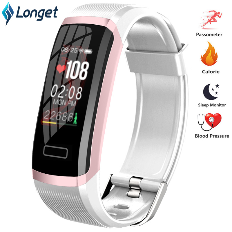 Longet Sport Smart Watch GT101 Waterproof Color Screen Fitness Tracker Heart Rate Monitor Call Reminder Smartwatch Men Women