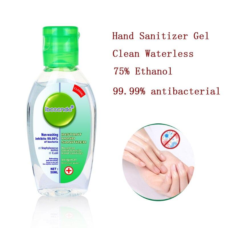 50ml Portable Hand Sanitizer Gel Anti-Bacteria 99.99% Antibacterial Hand Gel Clean Waterless 75% Ethanol Sanitizer Alcohol Gel