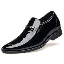 Mens Dress Shoes Zapatos De Hombre Spring Leisure Fashion Lace-Up Leather Shoes Man Oxfords Brown Black Loafers Men Formal Shoes