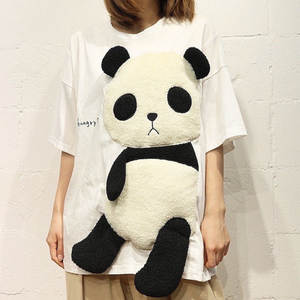 Summer Top Short-Sleeve Kawaii-Clothes Panda T-Shirt women Harajuku Ukraine-Friends Riverdale