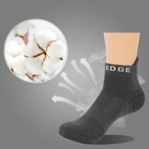 Image 2 - Yuedge Unisex bawełna, frotte poduszki na co dzień kolarstwo sportowe do biegania skarpetki krótkie Sneaker skarpetki