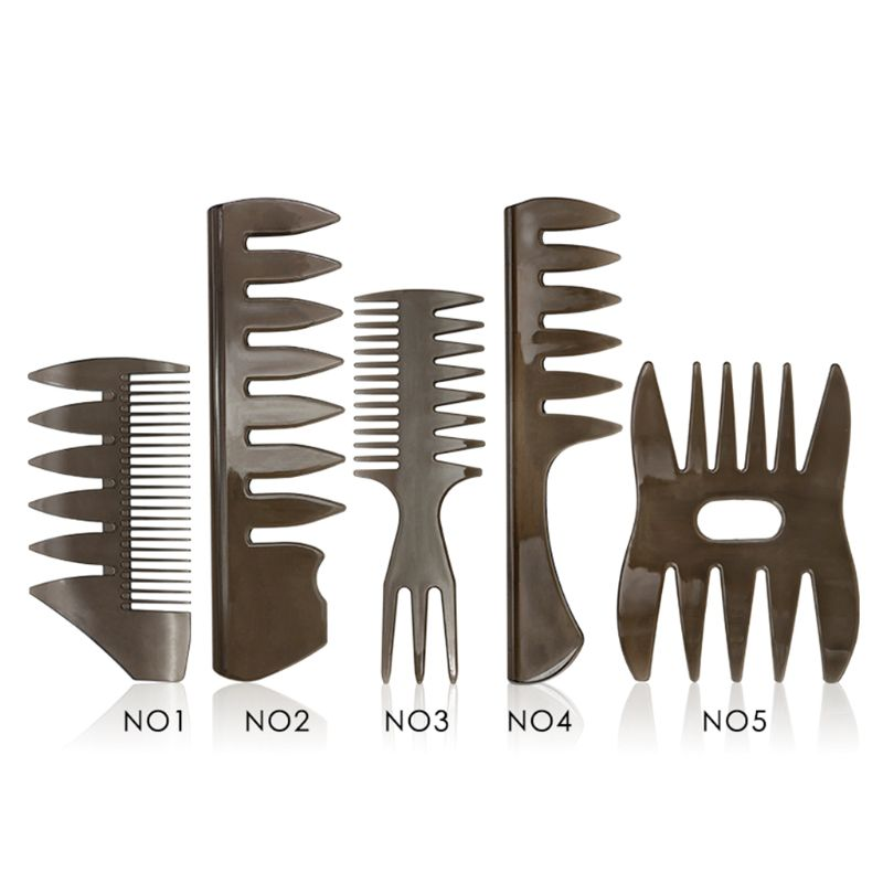 Male Styling Texture Oil Head Comb Fashion Retro Men Wide Tooth Plastic Double-sided Combs High Quality And Brand New