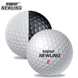 Image 3 - Мячи для игры в гольф на супер большом расстоянии 6 шт./кор. трехслойные шары из ПУ подходят для желобов черного и белого цвета