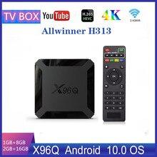 Smart X96Q Android 10.0 TV Box 2GB 16GB Allwinner H313 Quad Core 4K 60fps H.265 2.G Wifi Set Top Box Media Player цена 2017