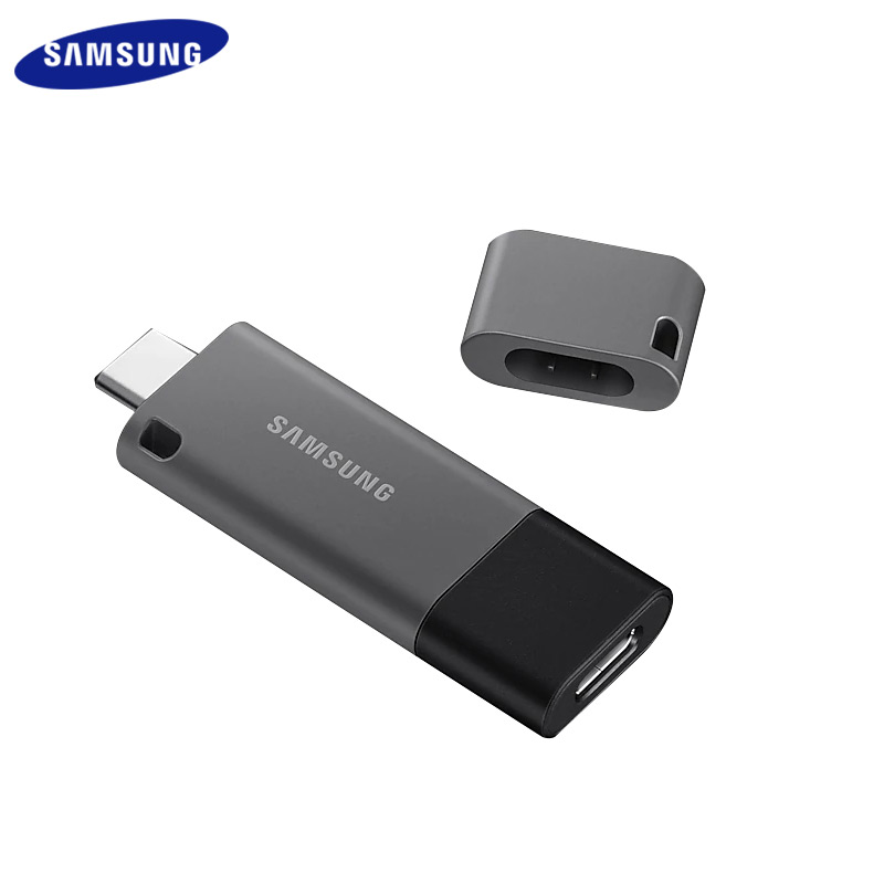 SAMSUNG DUO Plus USB 3.1 Type C Flash Drive 256GB 128GB 64GB 32GB Memory Stick With Type A Adapter U Disk For Tablet/Phone image