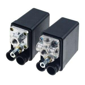 "Image 4 - 1/4 ""normalde kapalı 220/380V 20A 90 125PSI hava kompresörü basınç kontrol anahtarı vana plastik kabuk"