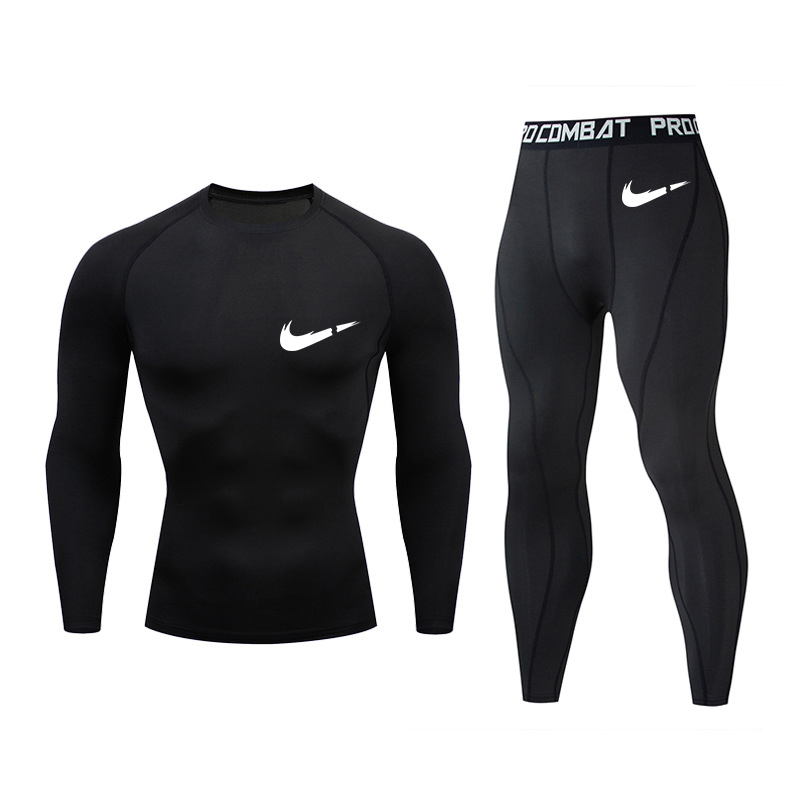 New Thermal Underwear Set Men's Hot Shirt Compression Fleece Fast Moisturizing Underwear Underwear Men's Clothing Long John