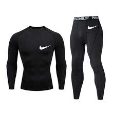 New thermal underwear set men's hot shirt compression fleece fast moisturizing underwear underwear m