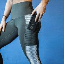 Sport Yoga Pants High Waist Mesh Leggings Fitness Women Training Running Sportswear