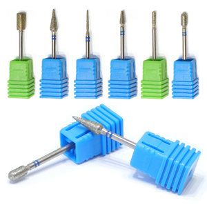 1pcs Diamond Nail Drill Bits Milling Cutter Grinder Polish Rotary Burr Cuticle Clean Manicure Electric Accessories Tools BE056
