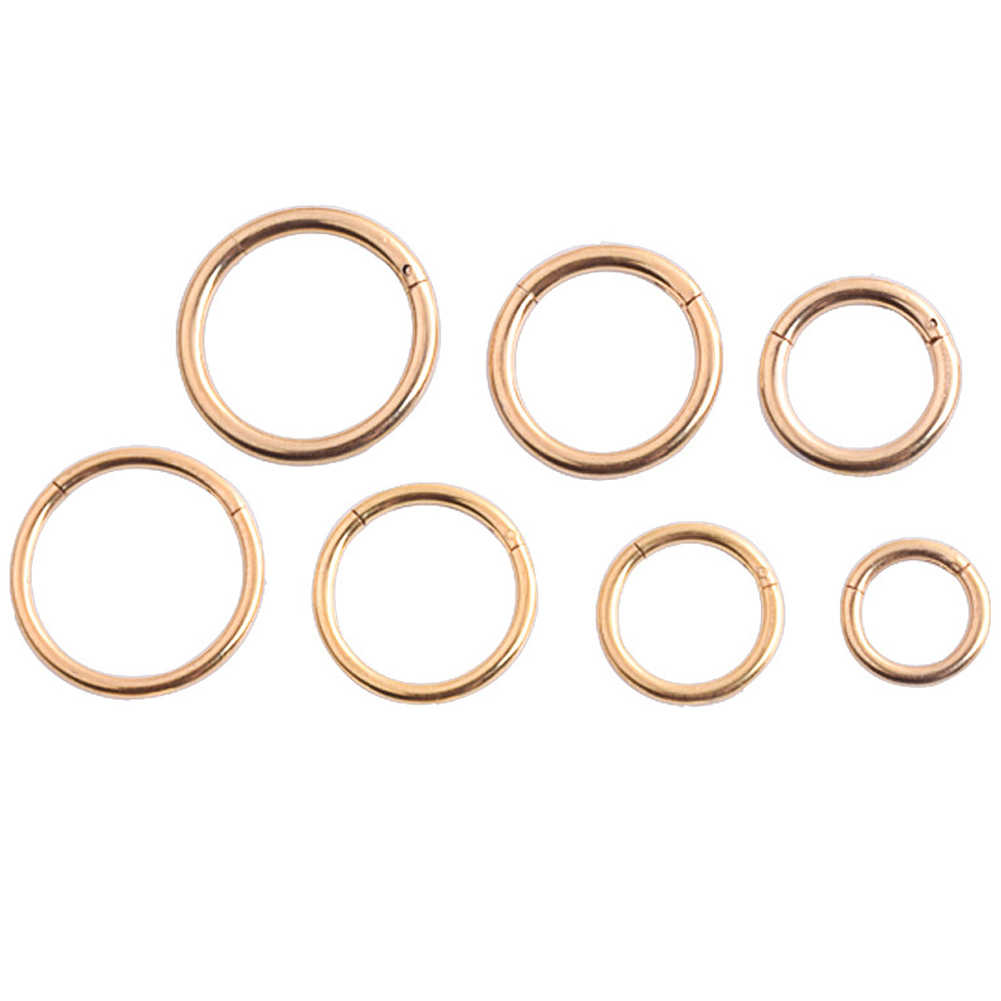 G23 Titanium GoldสีSeptumแหวนเปิดขนาดเล็กเจาะรูจมูกต่างหูผู้หญิงหูจมูกเจาะเครื่องประดับ