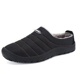 Image 1 - ฤดูหนาวผู้ชายรองเท้าผู้ชาย Plush รองเท้าแตะขนแกะขนสัตว์ผ้าฝ้าย เบาะบ้านรองเท้าแตะในร่มรองเท้าแบน PLUS ขนาด flip Flops