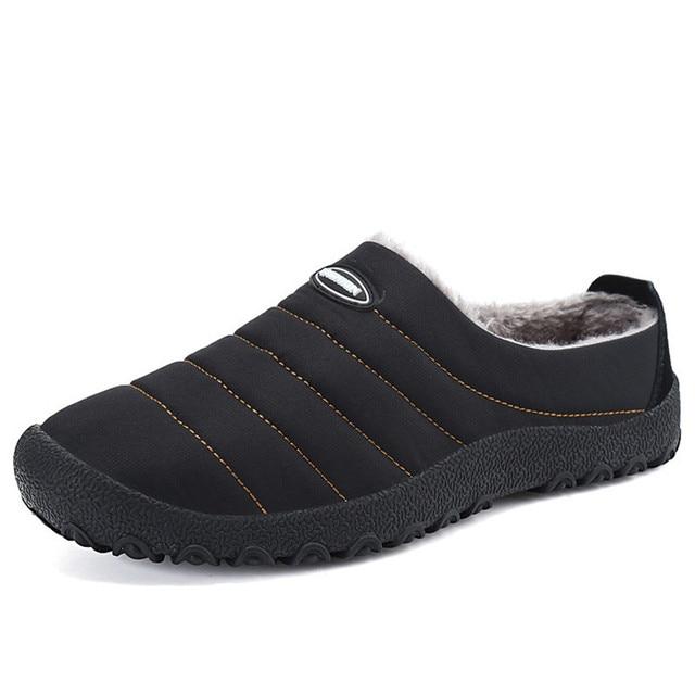 ฤดูหนาวผู้ชายรองเท้าผู้ชาย Plush รองเท้าแตะขนแกะขนสัตว์ผ้าฝ้าย เบาะบ้านรองเท้าแตะในร่มรองเท้าแบน PLUS ขนาด flip Flops