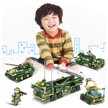 KAZI military tank 84057 field troops assembled building blocks armed helicopter childrens toys boy gifts