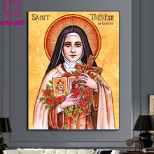 cute pet Diamond Embroidery sale Religious Saint Anne icon DIY Needlework 5D Diamond Painting Cross Stitch Full Mosaic Decor