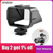 Andoer câmera selfie vlog flip up espelho tela com 3 montagens de sapata fria para sony a6000/a6300/a6500/a72/a73 series nikon z6/z7