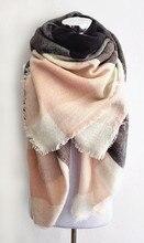 Za Deken Sjaal Plaid Kasjmier Sjaal Vrouwen Winter Sjaal Warm Grote Vierkante Sjaal Acryl Vrouwen Sjaals Sjaals Bufandas