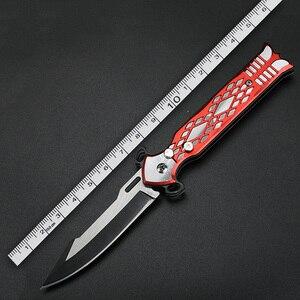 Image 5 - XUAN FENG Rot Outdoor Klappmesser Bereich Camping Taktische Unterstützung Messer Hohe Qualität Stahl Jagd Messer