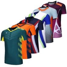 Новые теннисные рубашки для женщин и мужчин, спортивная одежда, одежда для бадминтона, рубашки для настольного тенниса, игровые рубашки, оде...