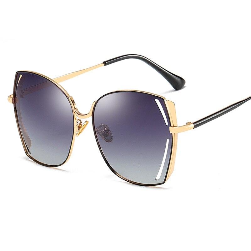 Поляризационные женские солнцезащитные очки больших размеров 2019, винтажные Роскошные зеркальные солнцезащитные очки для женщин, Ретро