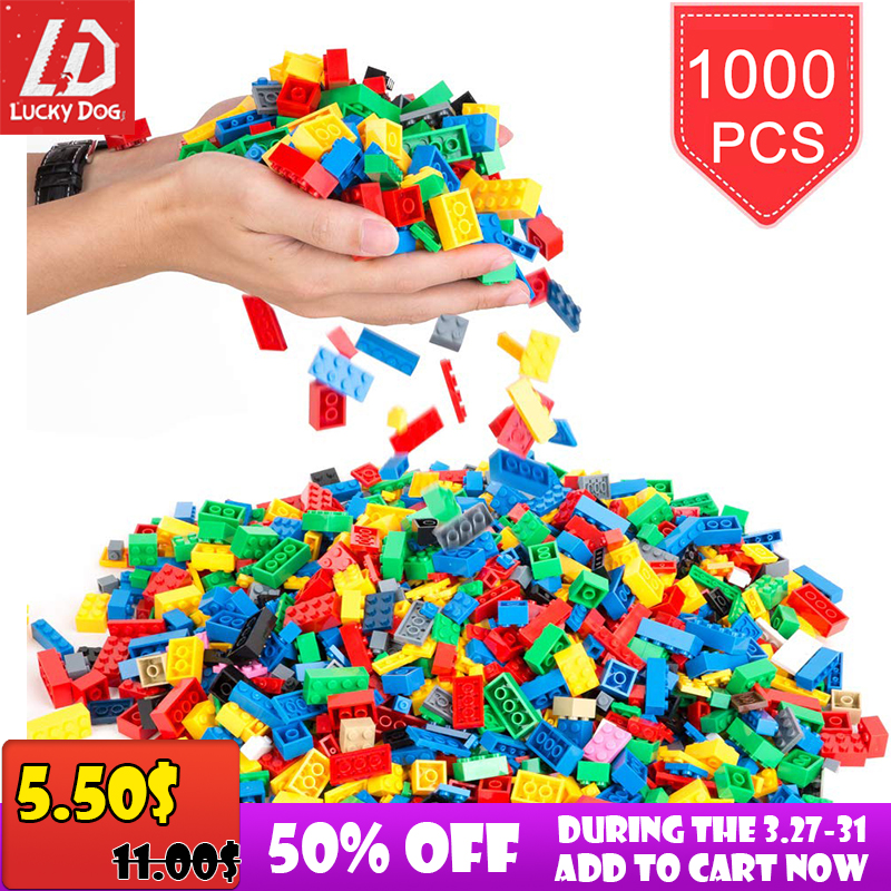 Kids Toys Bricks Building-Blocks Constructor Educational Creative Model 200-1000pcs DIY