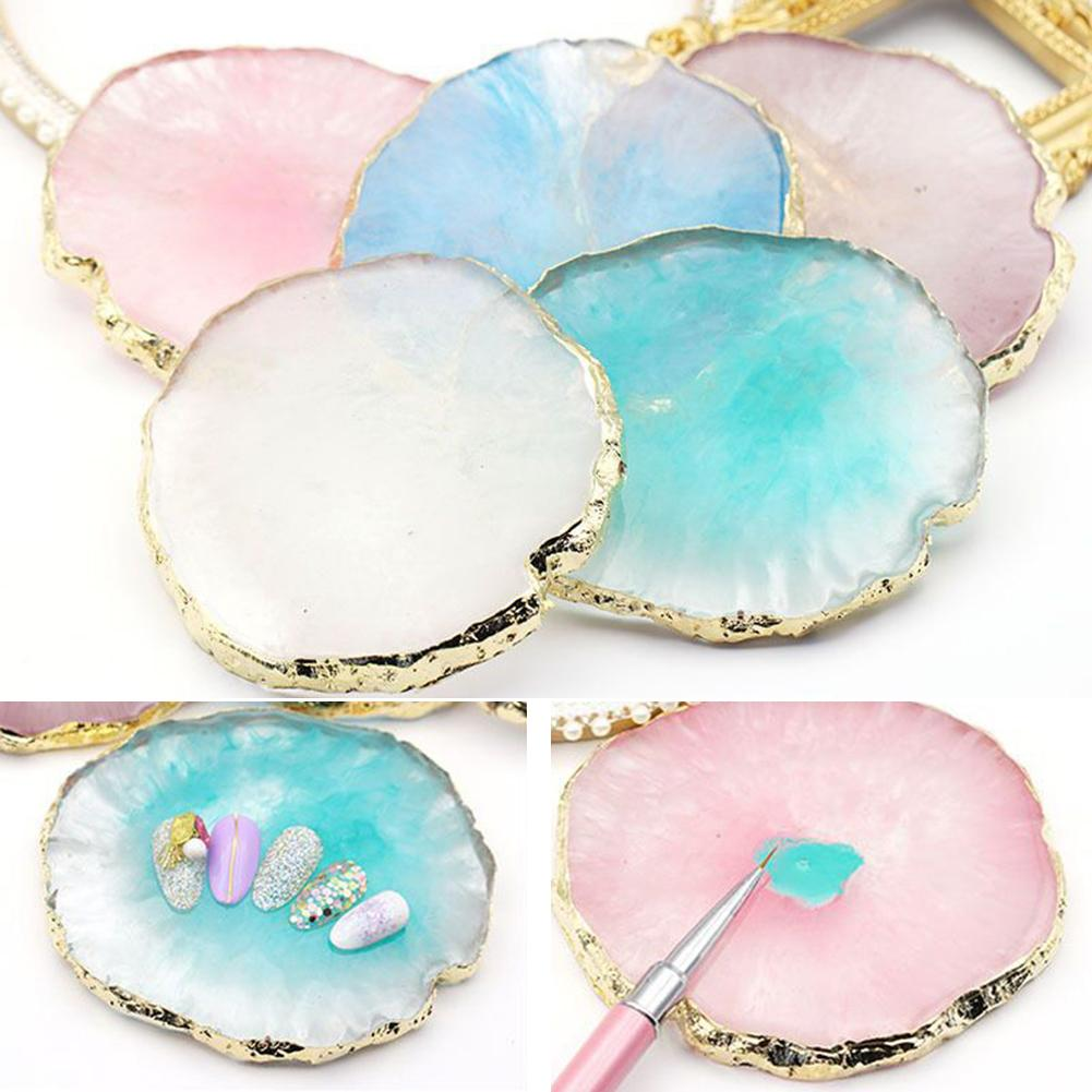 Resin Nail Art Gel Polish Color Palette Display Board Holder Plate Manicure Tool Nail Palette Display Board Jewelry Packaging &