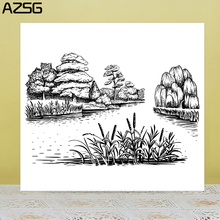 AZSG River Wonderful Scenery Clear Stamps/Seals For DIY Scrapbooking/Card Making/Album Decorative Silicone Stamp Crafts