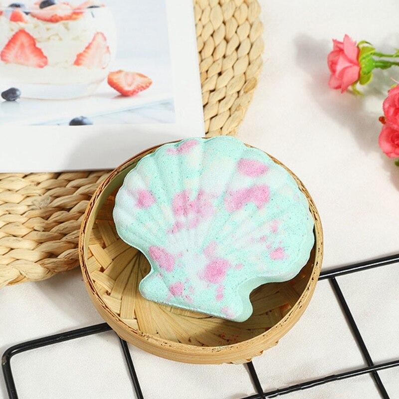 Ракушка пузырь ванна бомба натуральный газированный для женщин выделения цвет% 2C аромат% 2C пузырьки случайный цвет