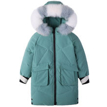 Новинка; Русская зимняя куртка для девочек; Вельветовая теплая