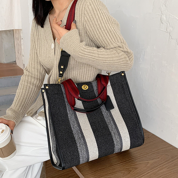 Canvas Women Canvas Handbags Shoulder Bags Large Capacity Ladies Crossbody Bags for Women Fashion Female Tote Messenger Bag New image