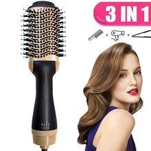 2021 escova de ar quente 3 em 1 um passo secador de cabelo e volumizer alisador cabelo elétrico secador cabelo pente quente styler