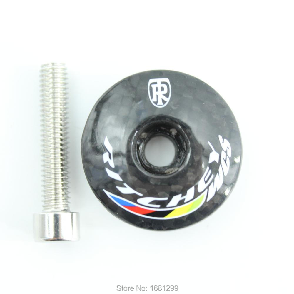 Newest Glossy 3K Full Carbon Fibre Bicycle Stem Cover Bike Headsets Carbon Top Caps Carbon Bike Parts With Bolts Free Shipping