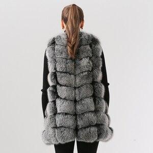 Image 3 - QIUCHEN PJ19035 2020 Nuovo arrivo reale della pelliccia di fox delle donne di inverno di modo della maglia della maglia di Trasporto libero caldo di vendita di spessore pellicce