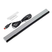 цена на New Gaming Wired Infrared IR Signal Ray Sensor Bar/Receiver for Wii Remote Controllers Game Sensor Bar