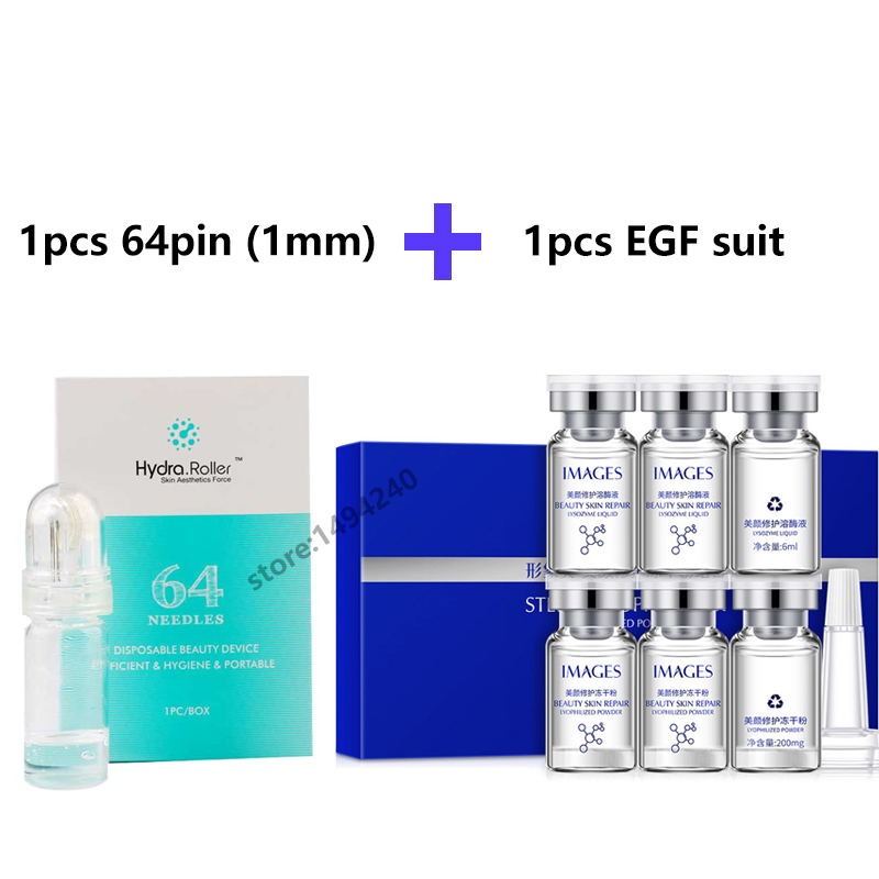 Lyophilized Powder + Lysozyme Liquid Face Serum Hyaluronic Acid Shrink Pores Suit With Hydra Needle Roller MicroNeedle