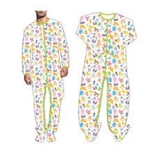 Adult Onesie Pajamas Long Jumpsuit For Adult Baby Snap Crotch Romper Sleepwear DDLG Bodysuit Baby bottle, Pacifier, Trojan Horse