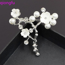 Crystal Flower Brooch Lapel Pin Rhinestone Jewelry Women Wedding Pins Large Brooches For Women broche Clothes Accessories cindy xiang rhinestone large pin brooches for women vintgae sweater pin fashion design wedding brooch high quality new 2020