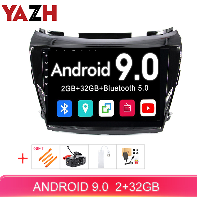 YAZH Android 9.0 Car Multimedia for Nissan Murano 2015 2016 2017 2018 2019 car auto radio 1080*600 HD IPS Screen gps navigation