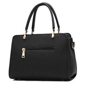 Image 3 - Trendy Patchwork Farbe Schulter Tasche für Frauen Mittleren Totes Geldbörse Büro Dame Umhängetaschen gabe quaste ornament Handtaschen
