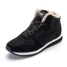 Мужские кроссовки, повседневная обувь, баскетбольные мужские кроссовки на шнуровке, теплые меховые зимние кроссовки, мужская обувь, мужская обувь размера плюс 35-47
