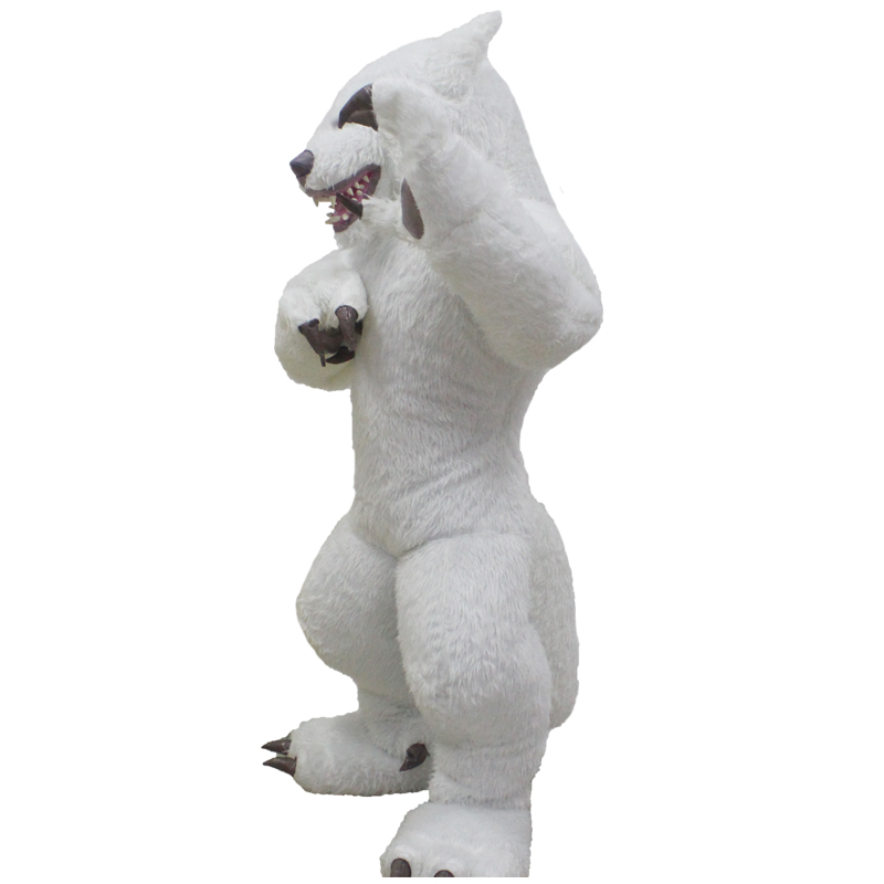 Halloween Inflatable Cosplay Wolf Mascot Costume Unisex Novelty Animal Full Mask Role Play Fancy Dress Party For 1.7m To 1.9m