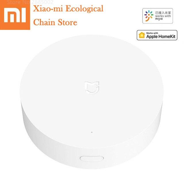 Xiaomi Mijia Smart Home Gateway ZigBee WIFI Bluetooth netz arbeit center mit Mijia APP Apple Homekit multimode hause Smart Gateway-in Smarte Fernbedienung aus Verbraucherelektronik bei