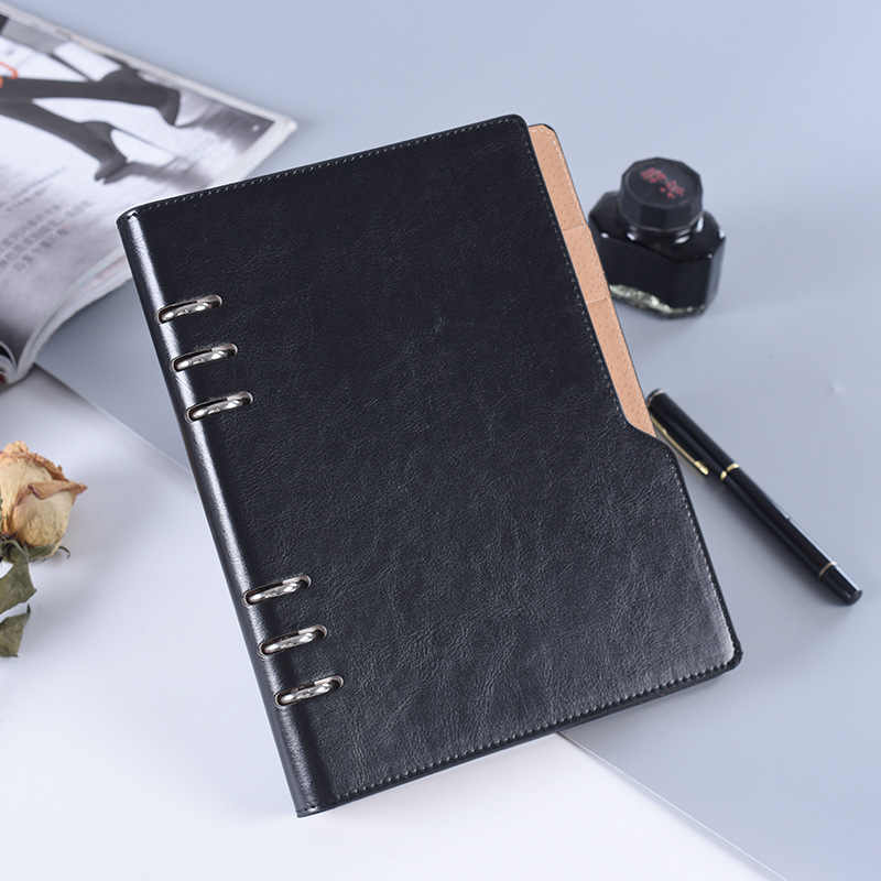 Bindmiddel PU Leather Cover Journal Business Kantoor A5 Notebook Reizigers Agenda 2019 2020 Week Planner Dagboek Spiraal Notepad