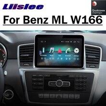 Dla Mercedes Benz MB M ML klasa W166 2012 ~ 2019 samochodowy odtwarzacz multimedialny NAVI Wireless CarPlay Radio samochodowe nawigacja GPS