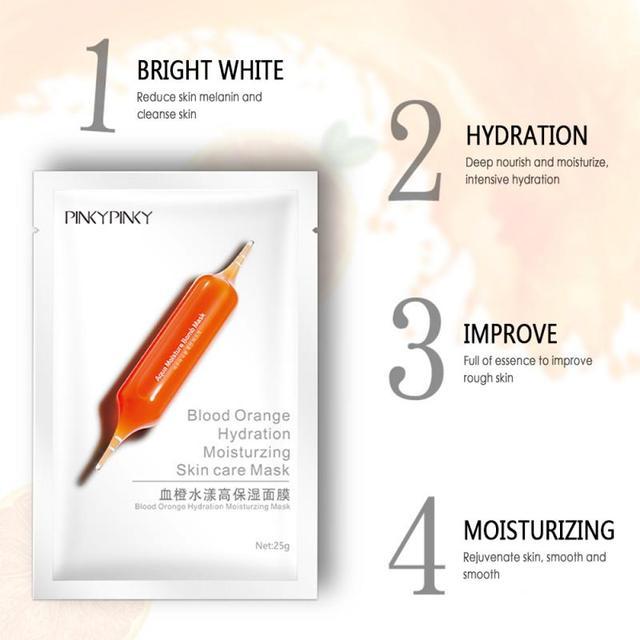Hyaluronic Acid Face Sheet Mask Collagen Whitening Korean Beauty Facial Moisturizing Skin Care Mascara Masker Face mask TXTB1 2