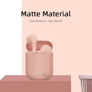 Image 2 - M & J TWS kolorowe bezprzewodowe małe wkładki douszne z Bluetooth słuchawki bezprzewodowe stereo przenośne matowe Macaron sport Bluetooth 5.0 słuchawki