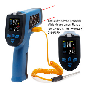 Image 4 - Digital Infrared Thermometer Single/Double laser Non Contact Temperature Meter Pyrometer  50~400/550/750/1100/1300/1600